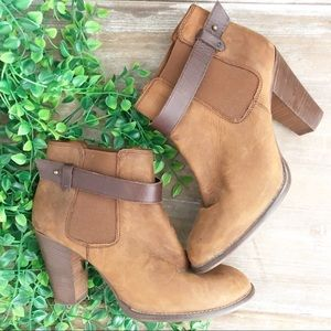 MADEWELL Distressed Leather Lonny Ankle Bootie